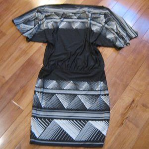 bcbg max azaria dress xs black white nwot